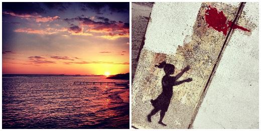 Coucher de soleil et Street art à Chypre !