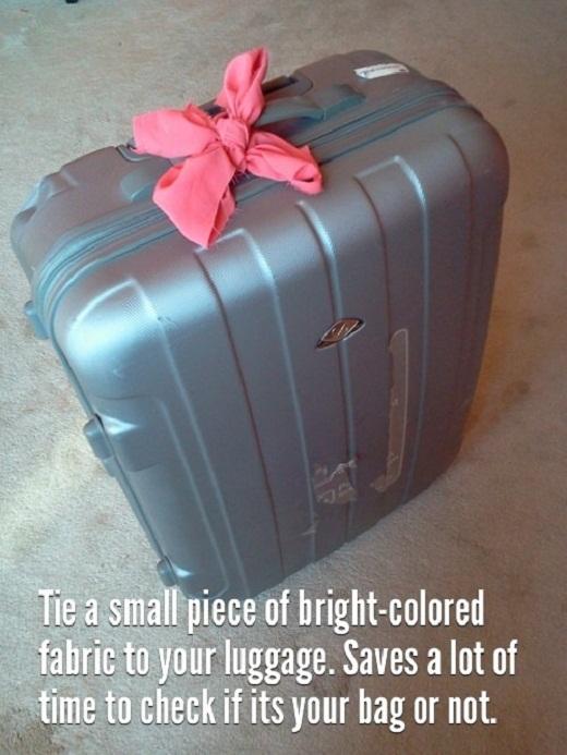 Trouver sa valise en voyage