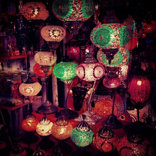 Les lampions du Grand Bazar d'Istanbul